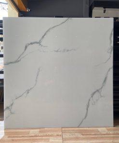 Gạch lát nền 100x100 trắng mây vi tinh