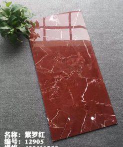 Gạch lát nền khổ lớn 60x120 đỏ vân trắng
