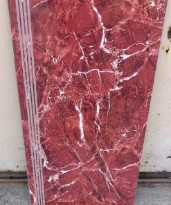 Gạch lót cầu thang mới nhất 47x100 đỏ vân trắng