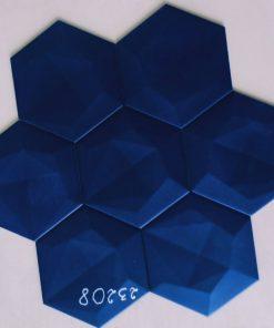 Gạch lục giác 3D xanh biển