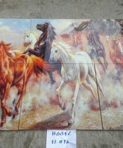 gạch tranh ngựa trang trí 12x18 giá rẻ